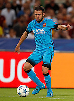 Calcio, Champions League, Gruppo E: Roma vs Barcellona. Roma, stadio Olimpico, 16 settembre 2015.<br /> FC Barcelona's Jordi Alba in action during a Champions League, Group E football match between Roma and FC Barcelona, at Rome's Olympic stadium, 16 September 2015.<br /> UPDATE IMAGES PRESS/Riccardo De Luca<br /> <br /> *** ITALY AND GERMANY OUT ***