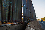 US-Mexico border wall under construction in Mexicali