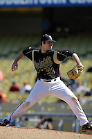 February 28 2010: Russell Brewer of Vanderbilt  during game against Oklahoma State at Dodger Stadium in Los Angeles,CA.  Photo by Larry Goren/Four Seam Images