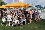 Mint Polo in the Park. Hurlingham Park Fulham London Uk June 6th 2010. Veuve Clicquot champagne enclosure.