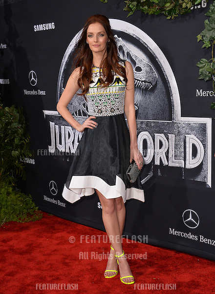 """Actress Lydia Hearst, great-granddaughter of William Randolph Hearst, at the world premiere of """"Jurassic World"""" at the Dolby Theatre, Hollywood.<br /> June 10, 2015  Los Angeles, CA<br /> Picture: Paul Smith / Featureflash"""