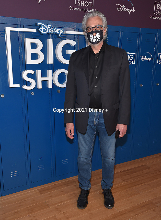 """LOS ANGELES, CA - APRIL 14: Executive Producer Bill D'Elia attends the world premiere drive-in screening of the Disney + original series """"BIG SHOT"""" at The Grove in Los Angeles, California on April 14, 2021. (Photo by Stewart Cook/Disney +/PictureGroup)"""