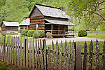 The Pioneer Farmstead at Oconaluftee, Great Smoky Mountains National Park, NC, USA