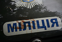 Blood smeared on a military veichle.<br /> <br /> Ukraine's security forces claimed to have killed 21 pro-Russian separatists in Mariupol on one of the bloodiest military repression since the so called anti-terror operation's inception.