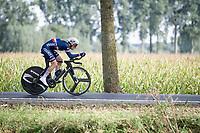 Romain Grégoire (FRA)<br /> <br /> Junior Men Individual Time Trial from Knokke-Heist to Bruges (22.3 km)<br /> <br /> UCI Road World Championships - Flanders Belgium 2021<br /> <br /> ©kramon
