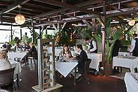 Europe/France/Provence-Alpes-Côte d'Azur/06/Alpes-Maritimes/Èze-Village: Restaurant:Les Remparts, à la Chèvre d'Or [Non destiné à un usage publicitaire - Not intended for an advertising use]