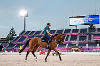 AUS-Shane Rose and Virgil. The Australian Equestrian Team - Eventing, do their evening familiarisations prior to competition at the Equestrian Park. Tokyo 2020 Olympic Games. Monday 26 July 2021. Copyright Photo: Libby Law Photography