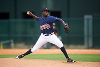GCL Braves relief pitcher Brandon T. White (67) during a game against the GCL Blue Jays on August 5, 2016 at ESPN Wide World of Sports in Orlando, Florida.  GCL Braves defeated the GCL Blue Jays 9-0.  (Mike Janes/Four Seam Images)
