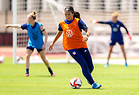HOUSTON, TX - JUNE 8: Sophia Smith #2 of the USWNT dribbles during a training session at the University of Houston on June 8, 2021 in Houston, Texas.