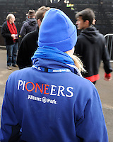 20130216 Copyright onEdition 2013©.Free for editorial use image, please credit: onEdition..Saracens Pioneers during the Premiership Rugby match between Saracens and Exeter Chiefs at Allianz Park on Saturday 16th February 2013 (Photo by Rob Munro)..For press contacts contact: Sam Feasey at brandRapport on M: +44 (0)7717 757114 E: SFeasey@brand-rapport.com..If you require a higher resolution image or you have any other onEdition photographic enquiries, please contact onEdition on 0845 900 2 900 or email info@onEdition.com.This image is copyright onEdition 2013©..This image has been supplied by onEdition and must be credited onEdition. The author is asserting his full Moral rights in relation to the publication of this image. Rights for onward transmission of any image or file is not granted or implied. Changing or deleting Copyright information is illegal as specified in the Copyright, Design and Patents Act 1988. If you are in any way unsure of your right to publish this image please contact onEdition on 0845 900 2 900 or email info@onEdition.com