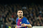 Luis Alberto Suarez Diaz of FC Barcelona reacts during the UEFA Champions League 2017-18 Round of 16 (2nd leg) match between FC Barcelona and Chelsea FC at Camp Nou on 14 March 2018 in Barcelona, Spain. Photo by Vicens Gimenez / Power Sport Images