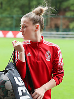 Lea Detail (23) of Standard pictured before a female soccer game between Standard Femina de Liege and White Star Woluwe on the fifth matchday of the 2021 - 2022 season of Belgian Scooore Womens Super League , saturday 2 nd of October 2021  in Angleur , Belgium . PHOTO SPORTPIX   SEVIL OKTEM