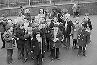In the playground, Julian's Primary School, Streatham, London.  1971.