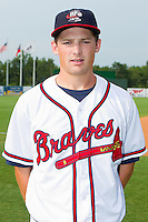Phillip Gosselin #30 of the Rome Braves at State Mutual Stadium July 24, 2010, in Rome, Georgia.  Photo by Brian Westerholt / Four Seam Images