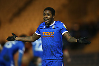 Michael Folivi of Colchester United during Colchester United vs Exeter City, Sky Bet EFL League 2 Football at the JobServe Community Stadium on 23rd February 2021