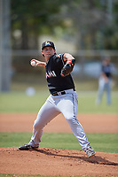 Miami Marlins starting pitcher Cody Poteet (90) delivers a pitch during a minor league Spring Training game against the New York Mets on March 26, 2017 at the Roger Dean Stadium Complex in Jupiter, Florida.  (Mike Janes/Four Seam Images)