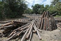 Cuba, Kohlen-Meiler bei Vinales, Provinz Pinar del Rio