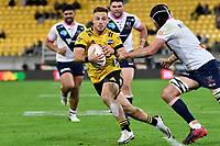 Wes Goosen of the Hurricanes during the Super Rugby - Hurricanes v Rebels at Sky Stadium, Wellington, New Zealand on Friday 21 May 2021.<br /> Photo by Masanori Udagawa. <br /> www.photowellington.photoshelter.com
