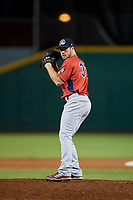 Peoria Chiefs relief pitcher Robbie Gordon (37) gets ready to deliver a pitch during a game against the Bowling Green Hot Rods on September 15, 2018 at Bowling Green Ballpark in Bowling Green, Kentucky.  Bowling Green defeated Peoria 6-1.  (Mike Janes/Four Seam Images)