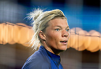 ORLANDO, FL - JANUARY 22: Jane Campbell #24 of the USWNT warms up before a game between Colombia and USWNT at Exploria stadium on January 22, 2021 in Orlando, Florida.