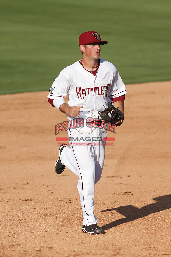 Wisconsin Timber Rattlers infielder Blake Allemand (6) during a Midwest League game against the Quad Cities River Bandits on July 17th, 2015 at Fox Cities Stadium in Appleton, Wisconsin. Quad Cities defeated Wisconsin 4-2. (Brad Krause/Four Seam Images)
