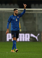 FBL- Friendly  football match Italy vs Estonia at the Artemio Franchi stadium in Florence on November 11, 2020.<br /> Italy's Vincenzo Grifo celebrates after scoring during tthe friendly football match between Italy snd Estonia at the Artemio Franchi stadium in Florence on November 11, 2020. <br /> UPDATE IMAGES PRESS/Isabella Bonotto