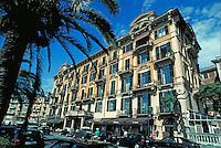 Street scene. St. Margarita Italian Rivera Italy Europe.