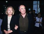 BERNARDO BERTOLUCCI CON LA MOGLIE CLARE PEPLOE<br /> CENA ELETTORALE WALTER VELTRONI - PALAZZO DEI CONGRESSI EUR ROMA 2001