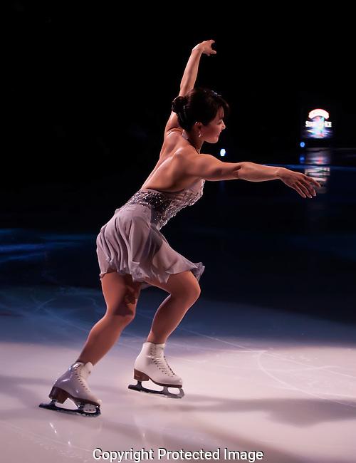Figure Skater Skating Backward