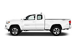 Car Driver side profile view of a 2017 Toyota Tacoma TRD Sport 4 Door Pick Up Side View