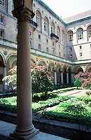 Boston:  Public Library-- Court.  Copley Square.  Renaissance style.  Photo '88.