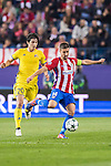 Gabi of Atletico de Madrid competes for the ball with Sardar Azmoun of FC Rostov during their 2016-17 UEFA Champions League match between Atletico Madrid and FC Rostov at the Vicente Calderon Stadium on 01 November 2016 in Madrid, Spain. Photo by Diego Gonzalez Souto / Power Sport Images