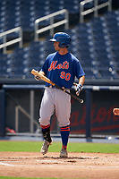 GCL Mets Zach Ashford (90) bats during a Gulf Coast League game against the GCL Nationals on August 12, 2019 at FITTEAM Ballpark of the Palm Beaches in Palm Beach, Florida.  GCL Nationals defeated the GCL Mets 7-3.  (Mike Janes/Four Seam Images)