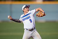 Pedro Semorile during the Under Armour All-America Pre-Season Tournament, powered by Baseball Factory, on January 19, 2019 at Sloan Park in Mesa, Arizona.  Pedro Semorile is a shortstop from Waianae, Hawaii who attends Saint Louis High School.  (Mike Janes/Four Seam Images)