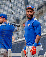 22 September 2018: New York Mets shortstop Jose Reyes awaits his turn in the batting cage prior to a game against the Washington Nationals at Nationals Park in Washington, DC. The Nationals shut out the Mets 6-0 in the 3rd game of their 4-game series. Mandatory Credit: Ed Wolfstein Photo *** RAW (NEF) Image File Available ***