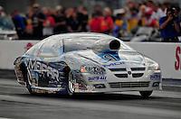 Oct. 31, 2008; Las Vegas, NV, USA: NHRA pro stock driver Allen Johnson during qualifying for the Las Vegas Nationals at The Strip in Las Vegas. Mandatory Credit: Mark J. Rebilas-