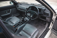 BNPS.co.uk (01202) 558833. <br /> Pic: SilverstoneAuctions/BNPS<br /> <br /> Pictured: Mint condition interior. <br /> <br /> Fire up the price tag...<br /> <br /> This immaculate Audi Quattro got collectors of 'modern classic' cars all fired up - as it sold for a record-breaking price of £163,125.<br /> <br /> The iconic eighties motor was believed to be the last one ever manufactured by the German car giant when it rolled off the production line in 1991.<br /> <br /> The UR Quattro 20V has had just two owners in its 30 year life and has just 9,700 miles on the clock.<br /> <br /> As a result the pearly white vehicle proved highly desirable when it went under the hammer.