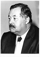 Le juge R Denys Dionne ; Membre et président (1974-1980) de la Commission d'enquête sur le crime organisé (CECO).<br /> <br /> PHOTO : JJ Raudsepp  - Agence Quebec presse