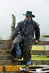 Marcus at the cattle roundup at the Pasagshak Ranch on Kodiak Island,  Southwest Alaska