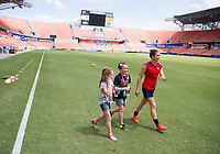 Houston, TX - April 8, 2017: The USWNT trains in preparation for a friendly against Russia at BBVA Compass stadium.