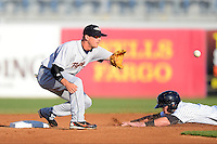 Lakeland Flying Tigers second baseman Brandon Loy #7 during a game against the Tampa Yankees at Steinbrenner Field on April 6, 2013 in Tampa, Florida.  Lakeland defeated Tampa 8-3.  (Mike Janes/Four Seam Images)