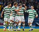 CELTIC'S ANTHONY STOKES CELEBRATES AFTER SCORING THE SECOND