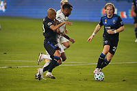 SAN JOSE, CA - SEPTEMBER 5: Judson #93 and Florian Jungwirth #23 of the San Jose Earthquakes mark Kellyn Acosta #10 of the Colorado Rapids during a game between Colorado Rapids and San Jose Earthquakes at Earthquakes Stadium on September 5, 2020 in San Jose, California.