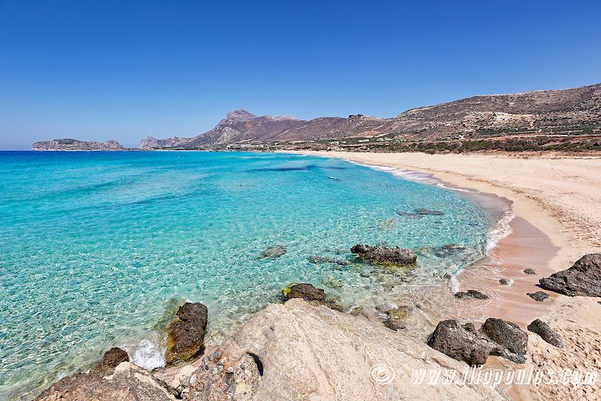The famous beach Falassarna in Crete, Greece