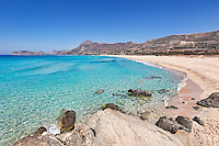 The famous beach Falassarna in Crete, Greece