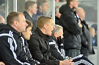 Pictured: Friday 26 December 2014<br /> Re: Premier League, Swansea City FC v Aston Villa at the Liberty Stadium, Swansea, south Wales, UK.<br /> <br /> Swansea manager Garry Monk
