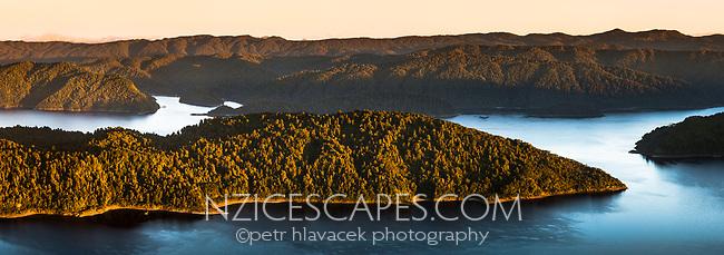Sunrise over Lake Waikaremoana, Te Urewera, Hawke's Bay, North Island, New Zealand, NZ