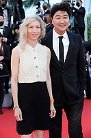 """CANNES, FRANCE - JULY 14: Jessica Hausner, Song Kang-ho at the """"A Felesegam Tortenete/The Story Of My Wife"""" screening during the 74th annual Cannes Film Festival on July 14, 2021 in Cannes, France.<br /> CAP/GOL<br /> ©GOL/Capital Pictures"""