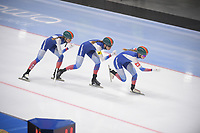 SPEEDSKATING: 23-11-2019 Tomaszów Mazowiecki (POL), ISU World Cup Arena Lodowa, Team Pursuit Ladies (RUS), ©photo Martin de Jong