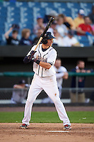 Syracuse Chiefs shortstop Trea Turner (7) at bat during a game against the Louisville Bats on June 6, 2016 at NBT Bank Stadium in Syracuse, New York.  Syracuse defeated Louisville 3-1.  (Mike Janes/Four Seam Images)